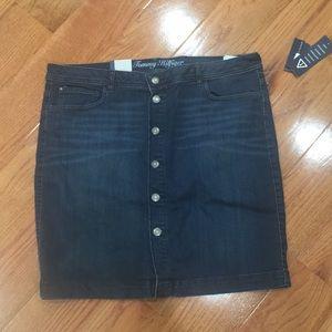 NWT Button down denim skirt.